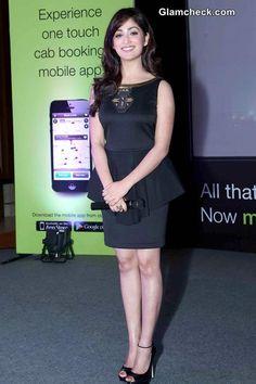 Yami Gautam in Peplum at Ola Cabs App Launch