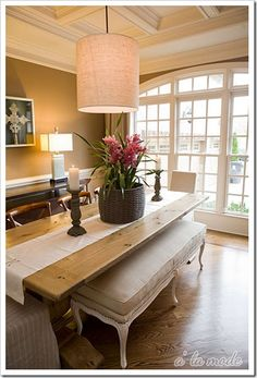 Bench at Dining Table
