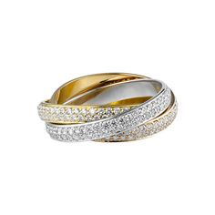 The most beautiful wedding band ever. The Cartier Trinity ring.                                                                                                                                                                                 More