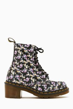 Clemency 8 Eye Boot in Floral by Dr. Martens