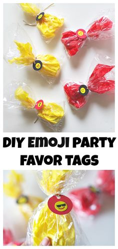 DIY Emoji Party Favo