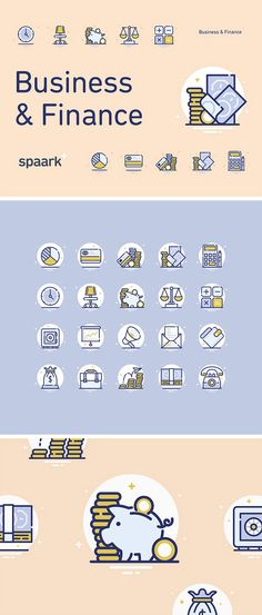 40 Modern Useful Icon Sets For Designers. There are 40 free icons in the pack and they can be used for both free + commercial projects. Finance Books, Finance Tips, Finance Logo, Making A Budget, Business Icon, Managing Your Money, Investing Money, Icon Set, Personal Finance