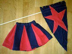 Free Tutorial: Fast, Simple, Adorable Peek-A-Boo Pleat Skirt / cheerleader toddler skirt