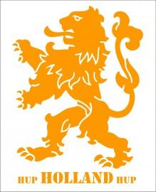 Muursticker Hup Holland Hup WK 2014 (80 x 110 cm) | MUURSTICKERS COLLECTIE | 101WOONSTICKERS / MUURSTICKERS