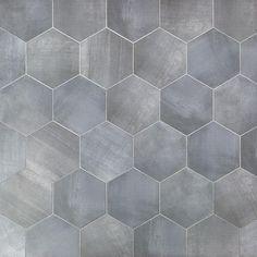 Paige Grigio Hexagon Matte Cement Look Porcelain Tile Porcelain Hexagon Tile, Hexagon Tile Bathroom, Hexagon Tiles, Bathroom Flooring, Porcelain Floor, Bathroom Carpet, Hall Bathroom, Bathroom Interior, Grey Floor Tiles Bathroom