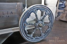 Get all the details on this antique tea cart makeover using Joanna Gaines new paint line Magnolia Home Paint. Fixer Upper fans...you will love it