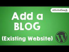 Adding a Blog to an Existing Business Website! (WordPress) - https://www.wptutorialcamp.com/how-to-do-a-blog-on-wordpress/adding-a-blog-to-an-existing-business-website-wordpress/  #HowToDoABlogOnWordPress