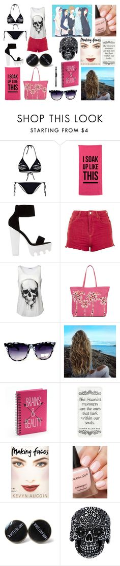 """Ally's Day on the Beach With the Iwatobi and Samezuka Swim Clubs"" by allyfazio ❤ liked on Polyvore featuring Chicnova Fashion, Topshop, Vera Bradley, Simple Pleasures and Kevyn Aucoin"