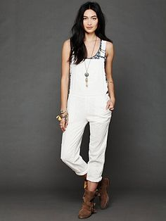 Straight Eyelet Overall... i want these for italy.. cute sandals and a crop underneath ... die die die