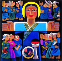 He Qi: Resurrection Reminds me of Diego Rivera & David Sisqueros