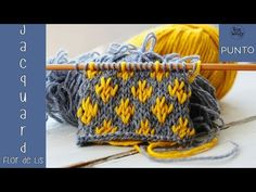 Introducción al Jacquard: Punto Flor de Lis en dos agujas | Soy Woolly