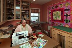 Paul home into a quilting room, with cabinets that make it easy to see the materials she uses. Description from startribune.com. I searched for this on bing.com/images