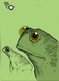 Andy Watt: www.folioart.co.uk/illustration/folio/artists/illustrator/andy-watt - Agency: www.folioart.co.uk - #illustration #art #digital #toad