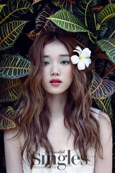 Lee Sung Kyung shows her stuning beauty as a bride in wedding pictorial for Singles - Latest K-pop News - K-pop News Lee Sung Kyung Fashion, Lee Sung Kyung Makeup, Korean Magazine, Marie Claire, Weightlifting Fairy Kim Bok Joo, Kdrama, Joo Hyuk, Ulzzang Fashion, Korean Makeup