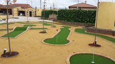 Unn #minigolf con #cespedartificial especial para #puttinggreen de 12mm de altura bicolor. #artificial_golf #europe #allgrass
