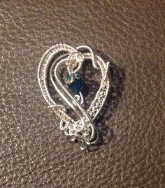 Silver heart pendant by Arte Laboratae - Katalin KB Walcott