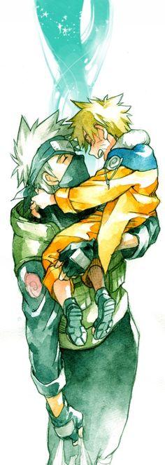 Kakashi-sensei and young Naruto