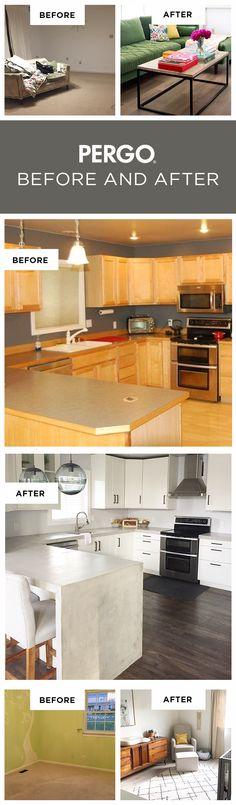 It's amazing just how much a floor can make a difference in your home. Whether you go with Pergo hardwood flooring or Pergo laminate flooring, you'll love how each floor's style and features can instantly upgrade your home. For inspiration, we're sharing our favorite before and after room transformations that feature Pergo flooring styles sold only at Lowe's. These are real images submitted by real customers. Get inspired now!