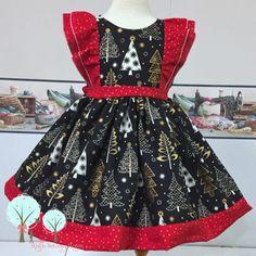 I love, love this fabric -- turned this little dress into a beauty  now taking order for custom sizes 12m-12