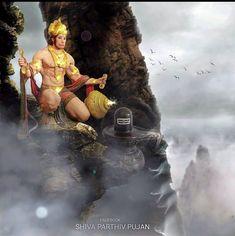 DM for Credits/removal. Hanuman Ji Wallpapers, Shiva Lord Wallpapers, Mahakal Shiva, Lord Krishna, Hanuman Images, Hanuman Chalisa, Lord Shiva Family, Lord Shiva Painting, Lord Mahadev