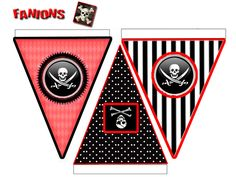 Themed Parties 406027722629028676 - bunting Source by Deco Pirate, Pirate Day, Pirate Birthday, Pirate Theme, Pirate Invasion, Barbie Em Paris, Theme Halloween, Party Fiesta, Printables