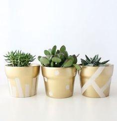 Ideas succulent diy pots terra cotta for 2019 Painted Flower Pots, Painted Pots, Deco Theme Marin, Suculentas Diy, Colorful Succulents, Succulent Pots, Diy Planters, Terracotta Pots, Spring Crafts