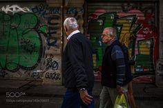 Walking with Graffiti by YanlunPeng
