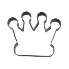 Een mooie kroon, een leuke uitsteker om te gebruiken voor op bijv. een prinsessenfeest of als traktatie op school, maar zeker ook voor op een taart!