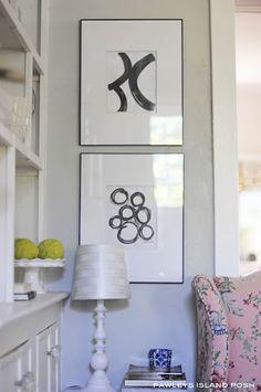 modern, framed black and white art