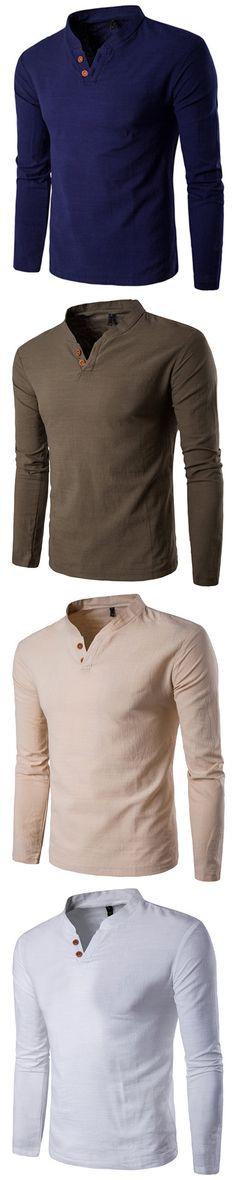 US$17.8 #mensfashion long sleeve shirts, shirts, mens long sleeve shirts, men's long sleeve shirts, men's clothing, men's fashion, mens tops, men's tops, tops, top, long, fall, winter,