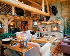Country-Living-Room-with-Stone-fireplace