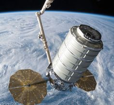 "NASA photograph ---- From May when the ""S. Thompson"" Cygnus arrived at the International Space Station and delivered approximately pounds of cargo to astronauts on board. The spacecraft successfully departed from the station on July Space Photos, Space Images, Sistema Solar, Nasa, Astronomy Terms, Planets And Moons, International Space Station, Hubble Space Telescope, Milky Way"