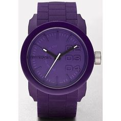 Diesel Purple Silicone Watch