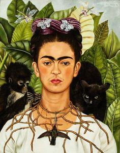 Frida Kahlo Self Portrait art painting for sale; Shop your favorite Frida Kahlo Self Portrait painting on canvas or frame at discount price. Diego Rivera, Frida E Diego, Frida Art, Frida Kahlo Artwork, Frida Kahlo Portraits, Fridah Kahlo, Art Populaire, Illustration Art, Illustrations