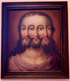 3-faced Jesus as the Trinity