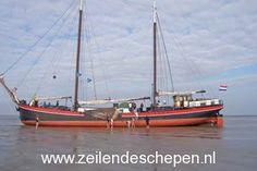 #Droogvallen met tweemaster de Alliantie op de #Waddenzee.
