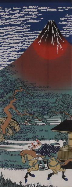 Maneki Neko and Hokusai's なんかイイねw