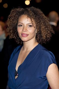Actress Carmen Ejogo.  Nice to see Carmen rockin' her natural hair.  This is my first time seeing it this way.