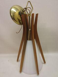 MID Century Danish Modern John C Virden Teak Hanging Pendant Light Eames ERA   eBay