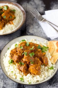 Slow Cooker Crock Pot Easy Healthy Indian Butter Chicken - simplehealthykitchen.com