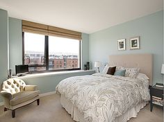Light blue bedroom walls
