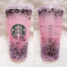 Custom Starbucks Cup, Instagram Accounts, Aurora, Glitter, Cold, Diamond, Pink, Black, Black People