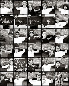 When we grow up collage!  How cute for a yearbook photo or classroom book photo?!?