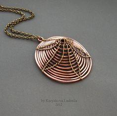 Gansta - Volumetric pendant - copper + brass 4 cm