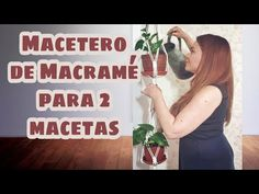 Macetero de Macrame para 2 Macetas - Paso a Paso - YouTube Wall Hanger, Plant Hanger, Youtube, Videos, Plants, Manila, Video Tutorials, Diy, Macrame Dress