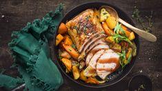 Porsaan fileepaisti uunijuureksilla Paella, Ethnic Recipes, Food, Essen, Meals, Yemek, Eten