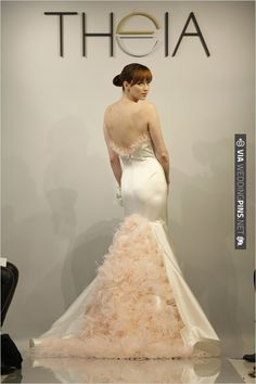 Theia Spring 2014 is simply dreamy. That touch of pink oh la la | CHECK OUT MORE IDEAS AT WEDDINGPINS.NET | #weddingfashion