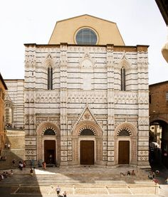 Siena (Italy) - Baptistery of San Giovanni (Pieve di San Giovanni Battista) - 1316-25, gothic style, Preserves works of the greatest masters of the early Italian Renaissance, XIV