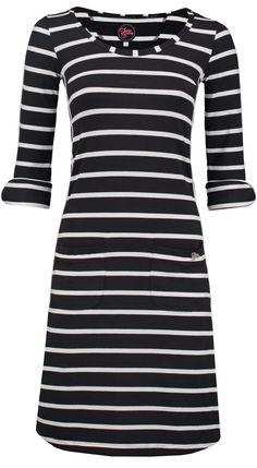Dress Patsy Stripe Rose Black - Jurkjes -Tante Betsy.com