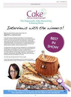 Interviews with winners from Cake International - Birmingham NEC! Cake Decorating Magazine, Birmingham Nec, Fishing Cakes, Cake International, Rose Marie, Novelty Cakes, Masters, December, Master's Degree